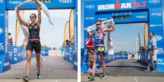 I vincitori dell'Ironman 70.3 Texas 2013