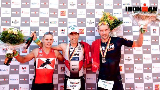 Il podio maschile dell'Ironman Germany 2013