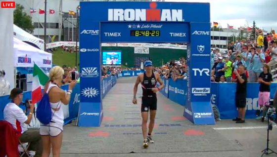 Daniel Fontana secondo all'Ironman Lake Placid 2013