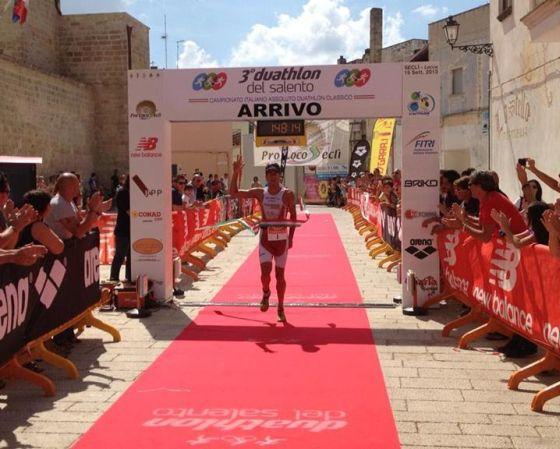 Danilo Brustolon a Seclì vince il suo terzo titolo italiano di duathlon classico