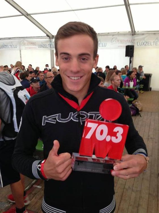 Matteo Fontana vince la sua categoria all'Ironman 70.3 Luxembourg 2013