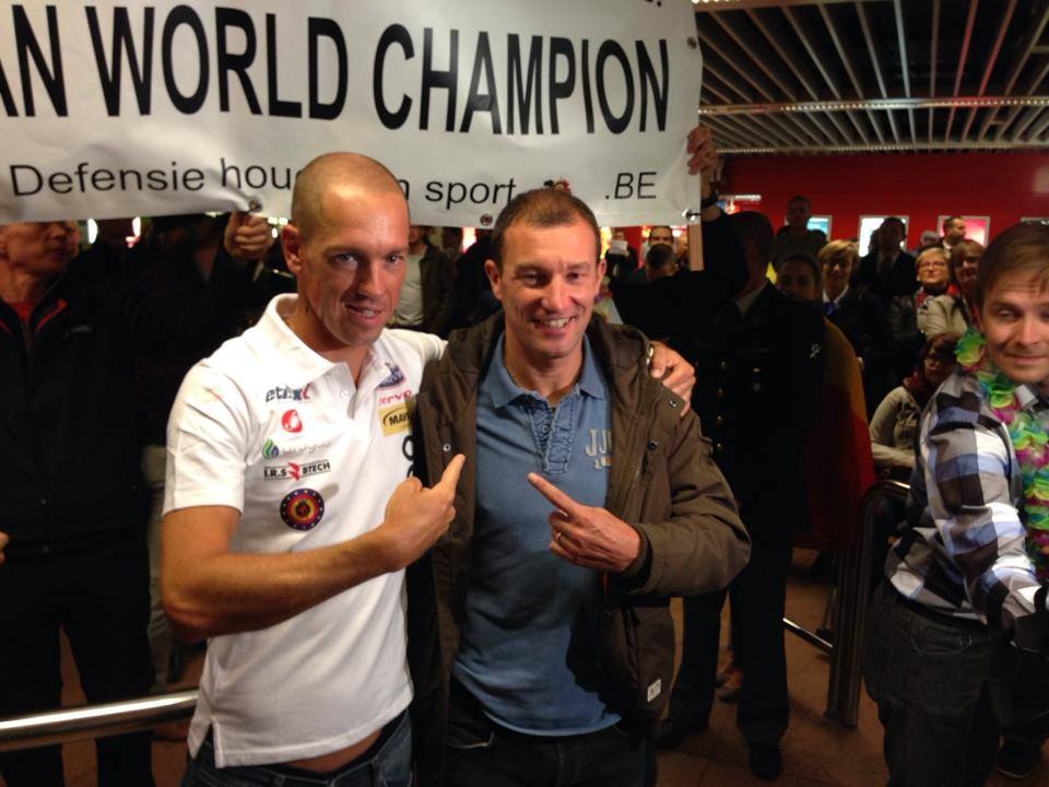 Frederik Van Lierde con il suo mitico allenatore Luc Van Lierde