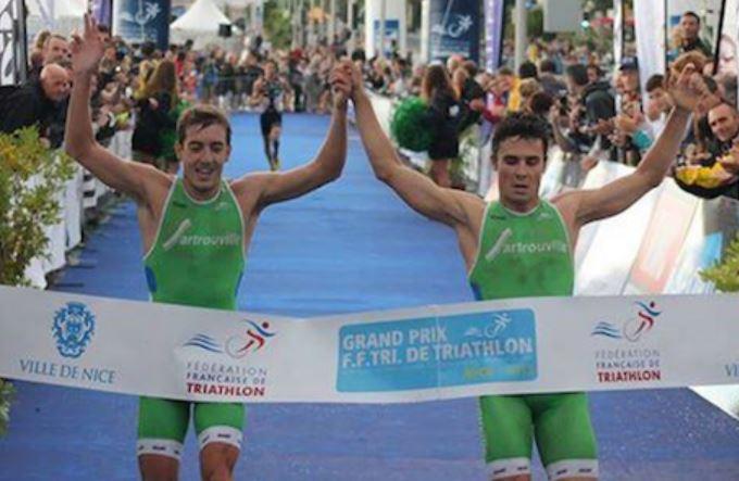 L'arrivo di Gomez e Alarza al Grand Prix FFTri Triathlon de Nice 2013