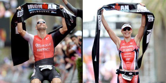 Dirk Bockel e Caroline Steffen vincono l'Ironman Melbourne 2014