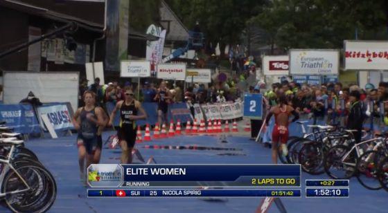 Anna Maria Mazzetti seconda al 2° giro run (su 4)