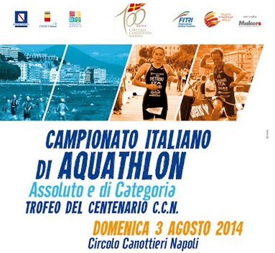 La locandina dei Campionati Italiani di Aquathlon 2014 a Napoli