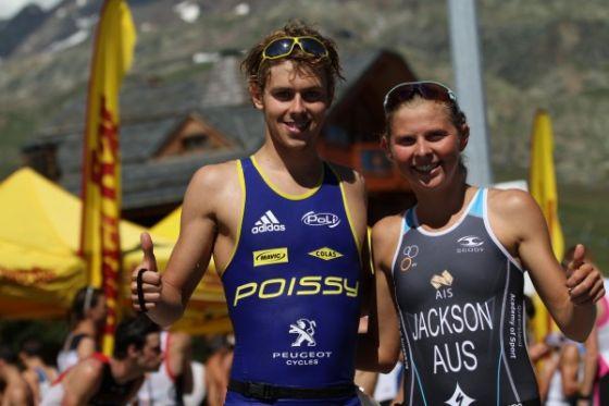 Tom Richard ed Emma Jackson vinco il triathlon cordo 2014 dell'Alpe d'Huez (Foto: Trimax-hebdo)