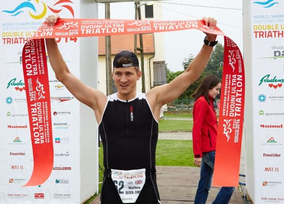 Matthew Winn-Smith ha vinto il Mondiale Double Ultratriathlon 2014 in Slovenia