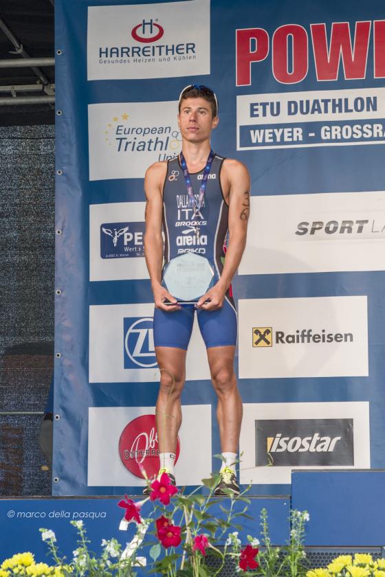 Alberto Della Pasqua d'argento agli Europei Under 23 di duathlon 2014