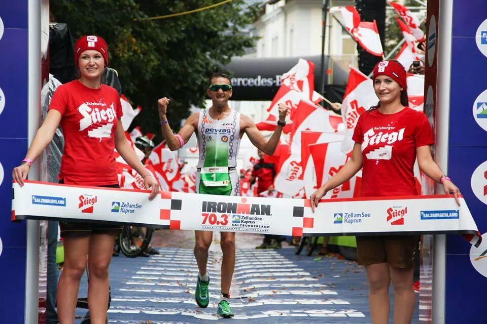 Marino Vanhoenacker vince l'Ironman 70.3 Zell am See 2014