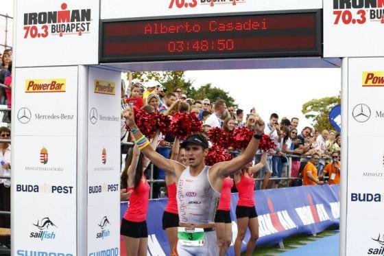 Alberto Casadei 2° al 1° Ironman 70.3 Budapest del 23 agosto 2014