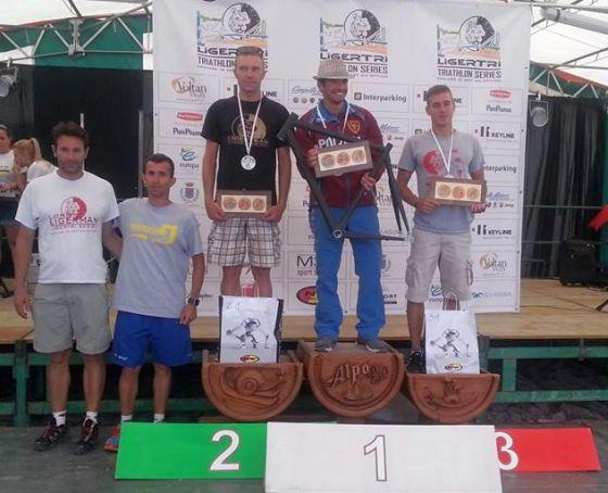 Il podio maschile del Long Ligerman 2014