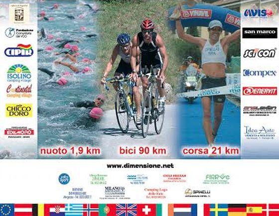 La locandina del Triathlon Internazionale di Mergozzo 2014