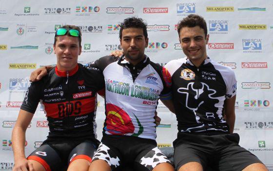 Il podio maschile del Tri@MI 2014 (Foto: COMeta PRess/Roberto Catti)
