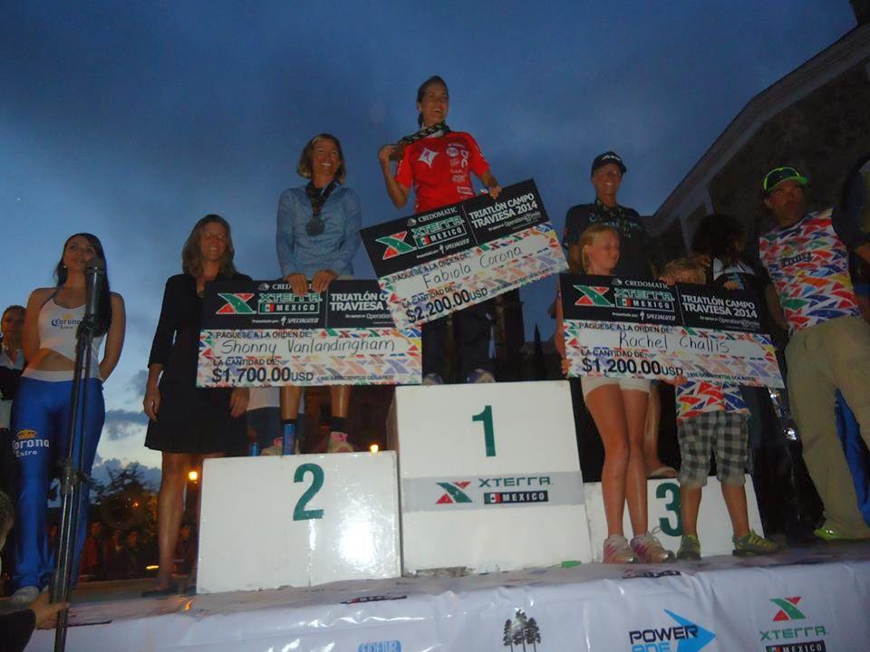 XTERRA Mexico 2014, il podio femminile