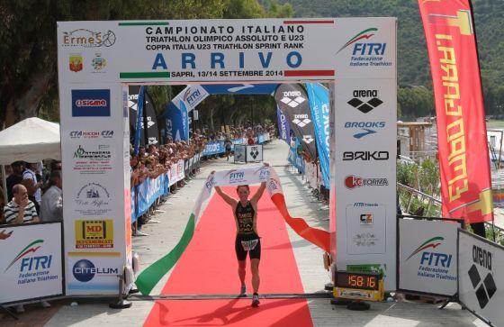 La campionessa italiana di triathlon olimpico 2014 Anna Maria Mazzetti