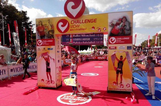 L'arrivo della nostra Martina Dogana, 2^ al Challenge Vichy 2014