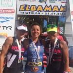 Il podio femminile di Elbaman73 2014
