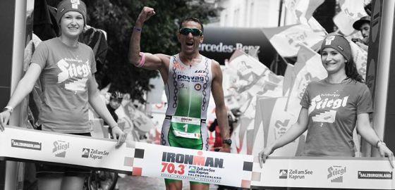 Marino Vanhoenacker vince a pugno alzato l'Ironman 70.3 Zell am See 2014