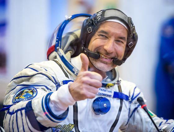 L'astronauta italiano Luca Parmitano