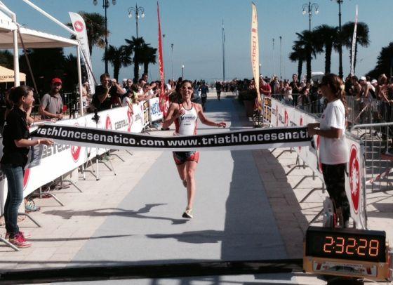 E' Monica Borsari la donna più veloce del 1° Triathlon Città di Cesenatico