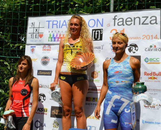 Triathlon Sprint Faenza 2014, il podio femminile