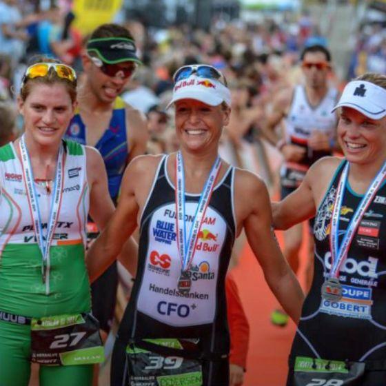 Il podio femminile del Triathlon XL de Gerardmer 2014