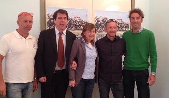 La conferenza stampa di presentazione degli Italiani di Triathlon 2014 a Riccione