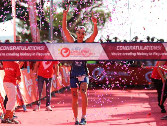 Giulio Molinari campione d'Europa al Challenge Mallorca 2014! (Photo by Charlie Crowhurst/Getty Images for Challenge Triathlon)