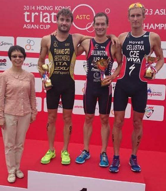 Il podio maschile della Coppa d'Asia 2014 di Hong Kong