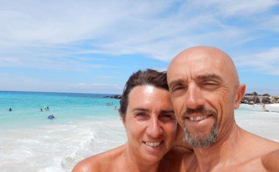 Mauro Ciarrocchi con sua moglie Ornella si godono la merita vacanza dopo l'Ironman Hawaii 2014