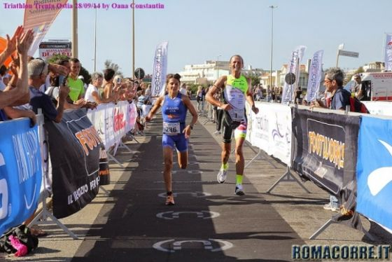L'arrivo di Alain Lorenzati al Triathlon Trenta Ostia