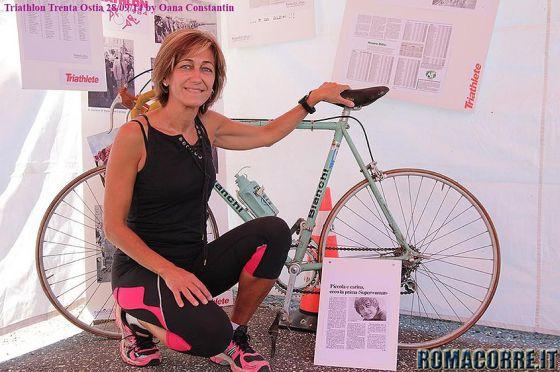 Ornella Maiolini, vincitrice del Triathlon di Ostia 1984, ha partecipato al trentennale nella staffetta
