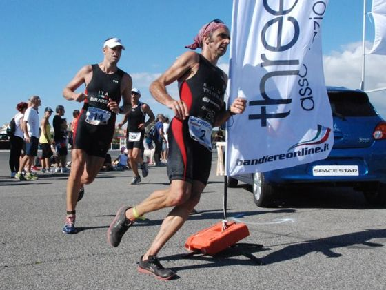 Stefano Spina, reporter dal vivo del Triathlon Trenta Ostia