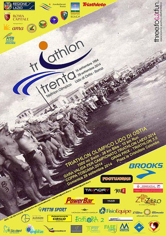 Il volantino di Triathlon Trenta Ostia
