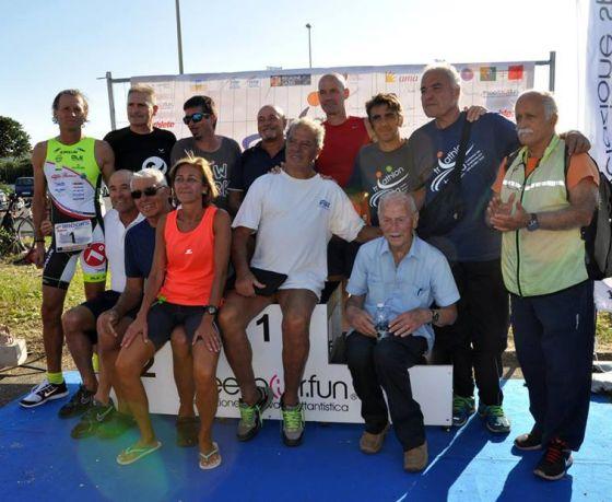 Alcuni dei protagonisti di Triathlon Trenta Ostia