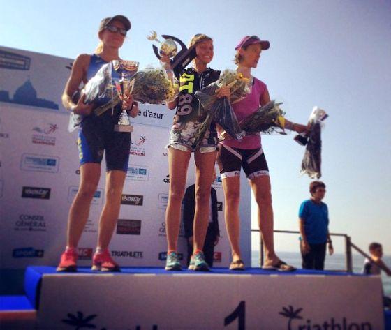 """Alice Leandro prima """"open"""" nel Triathlon de Nice 2014"""