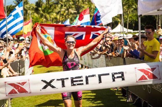 Flora Duffy campionessa mondiale XTERRA 2014 a Maui