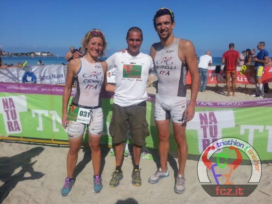 Genziana Cenni e Fabio Guidello con Mauro Giaconia, organizzatore del TNatura Palermo
