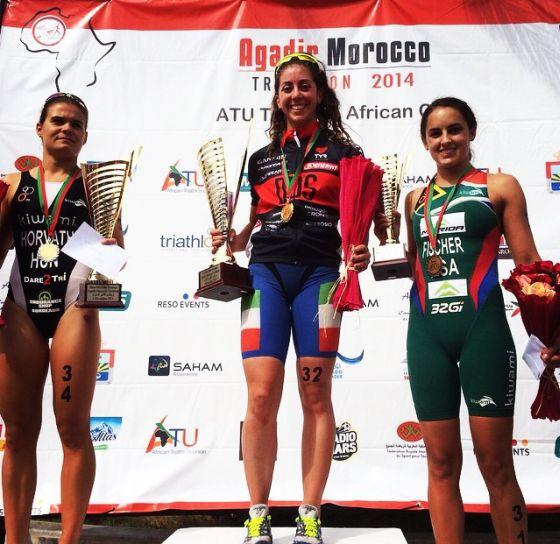Ultima gara del 2014 e vittoria per Alessia Orla nel triathlon di Agadir