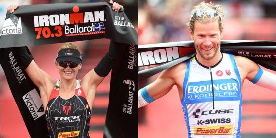 Melanie McQuaid e Michaler Ralert vincono il 1° Ironman 70.3 Ballarat