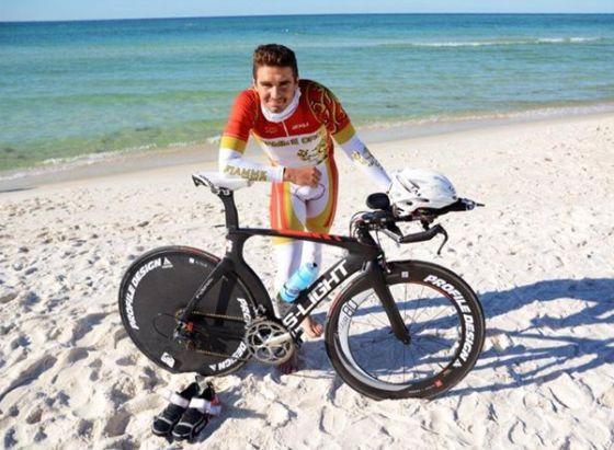 Alberto Casadei all'Ironman Florida 2014
