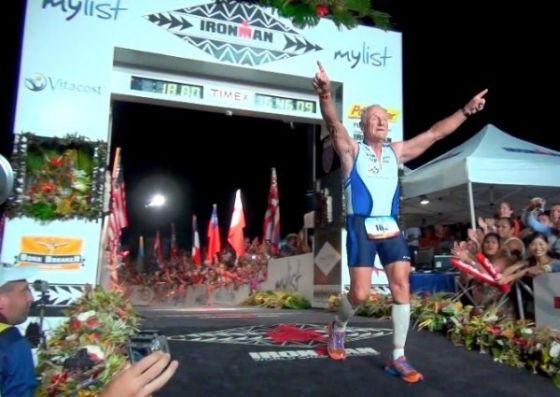 Lew Hollander finisher all'Ironman Hawaii 2012