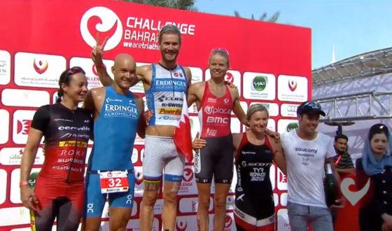 Il podio del Challenge Baharin 2014