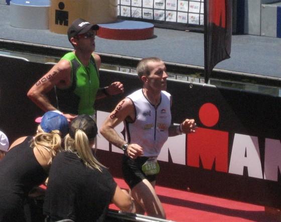 Marco Scotti al traguardo dell'Ironman 70.3 Western Sydney 2014