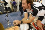 Tim Don in bici al The Sands Expo Hall dell'International CES