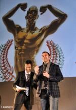 Antonio Rossi, sul palco con Dario Nardone, è stato uno dei graditi ospiti del 3° Gala del Triathlon (Foto: HLMPhoto)