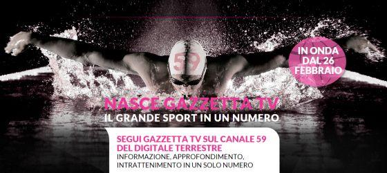 Nasce GazzettaTV, canale 59 del digitale terrestre