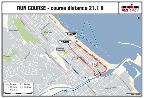 Il nuovo percorso run di Ironman 70.3 Italy Pescara 2015