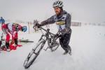 La frazione in mountain bike del Wintersports Vallespluga 2015